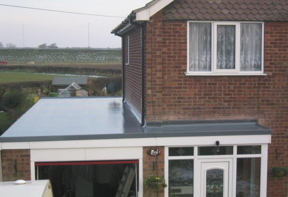 GRP roof -garage & porch