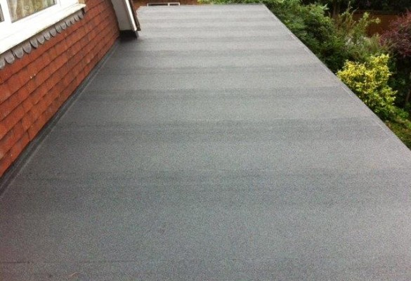 Rear extension (grey-green felt) After