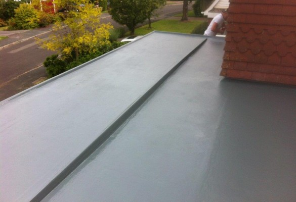GRP roof - step detail
