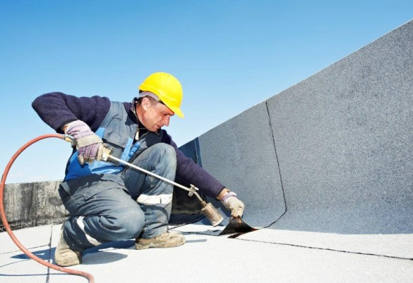 istock - flat roof action